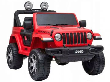 Jeep Wrangler Rubicon Licenced 12v Electric Ride on Car Red with Parental Control